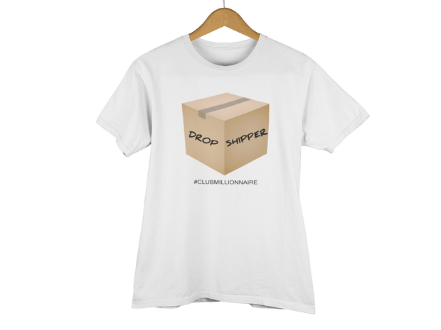 "T-SHIRT ""DROPSHIPPER"" - ClubMillionnaire Shop"
