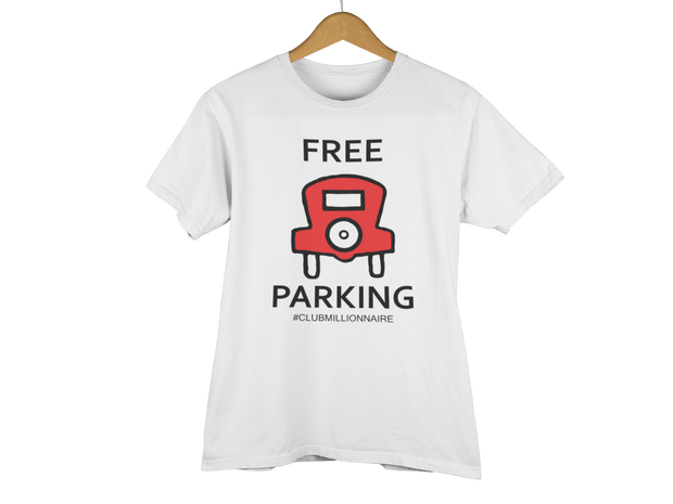 "T-SHIRT ""FREE PARKING"" - ClubMillionnaire Shop"
