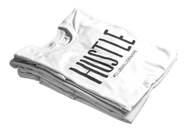 "T-SHIRT ""HUSTLE"" - ClubMillionnaire Shop"