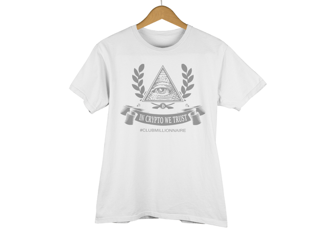 "T-SHIRT ""IN CRYPTO WE TRUST"" - ClubMillionnaire Shop"