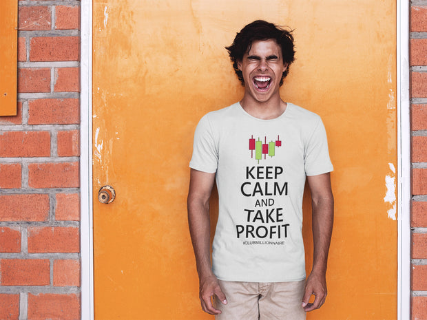 "T-SHIRT ""KEEP CALM AND TAKE PROFIT"" - ClubMillionnaire Shop"