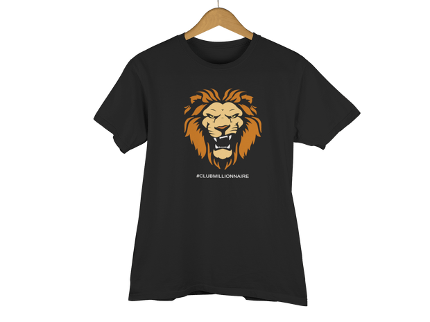 "T-SHIRT ""LION"" - ClubMillionnaire Shop"