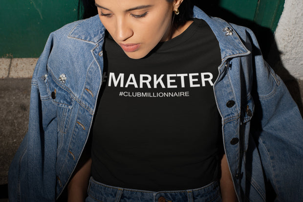 "T-SHIRT ""MARKETER"" - ClubMillionnaire Shop"
