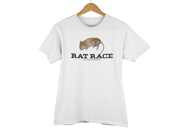"T-SHIRT ""RAT RACE"" - ClubMillionnaire Shop"