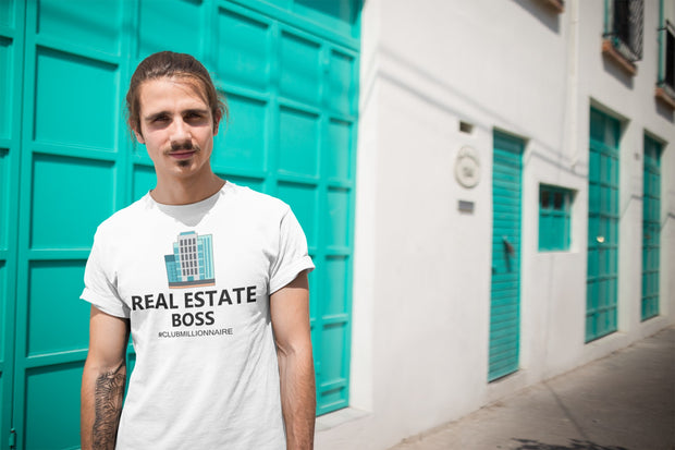 "T-SHIRT ""REAL ESTATE BOSS"" - ClubMillionnaire Shop"