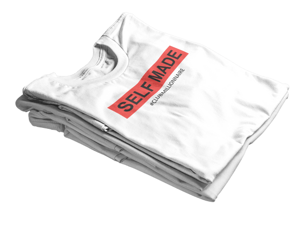 "T-SHIRT ""SELF MADE"" - ClubMillionnaire Shop"