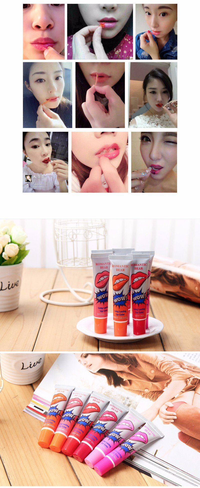 Peel OFF labial Long Lasting