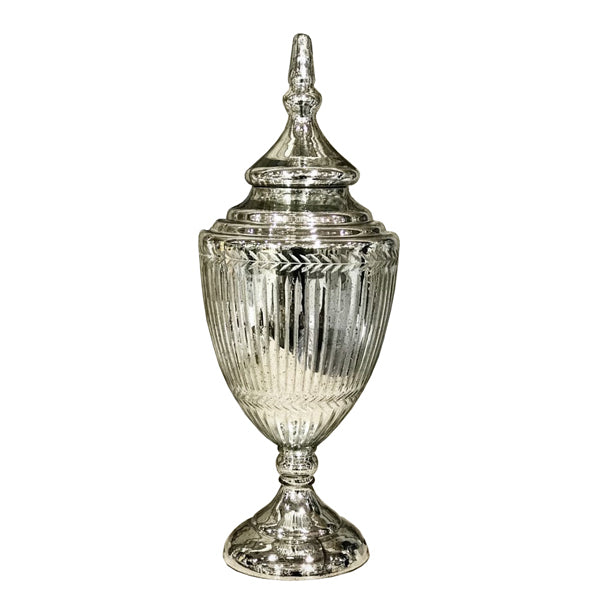Culinary Concepts Large Florentine Antique Silver Chalice Jar