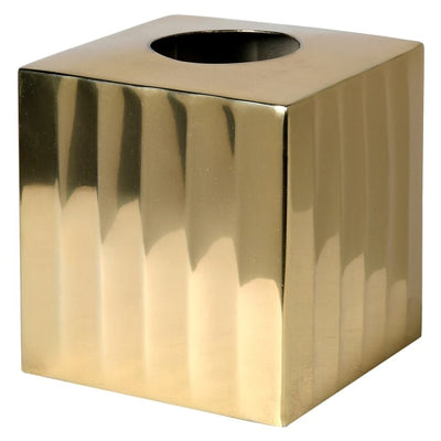 Luxury Gold Ribbed Tissue Box