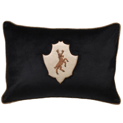 Stag Cushion with Embroidery