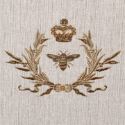 Gold Bee Emblem Cushion with Embroidery