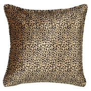 Leopard Cushion with Zardozi Embroidery
