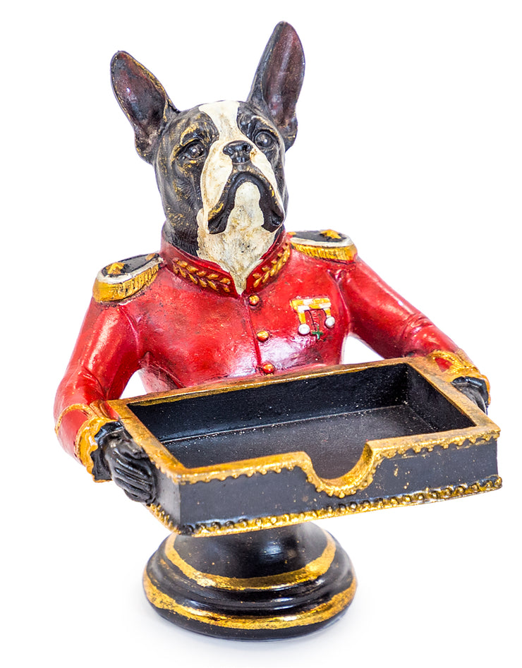 GENTRY FRENCH BULLDOG CARD HOLDER/SWEET TRAY