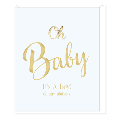 Oh Baby It's a Boy Congratulations Card