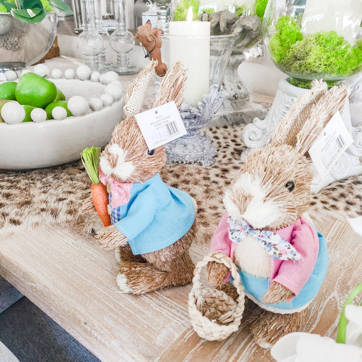 Straw Easter Bunny Decorations