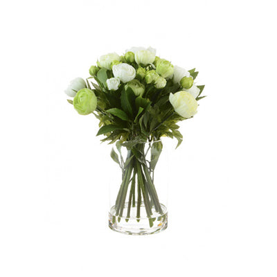 Tall Cream Ranunculus Bouquet in Vase