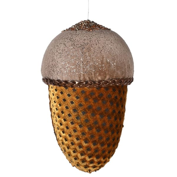 Fabric Acorn Hanging Decoration