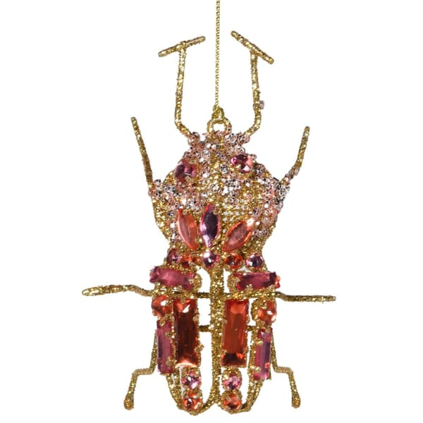 Pink Hanging Beetle Decoration