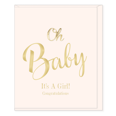 Oh Baby It's a Girl Congratulations Card