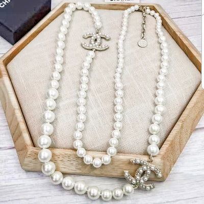 Pearl CC Necklace