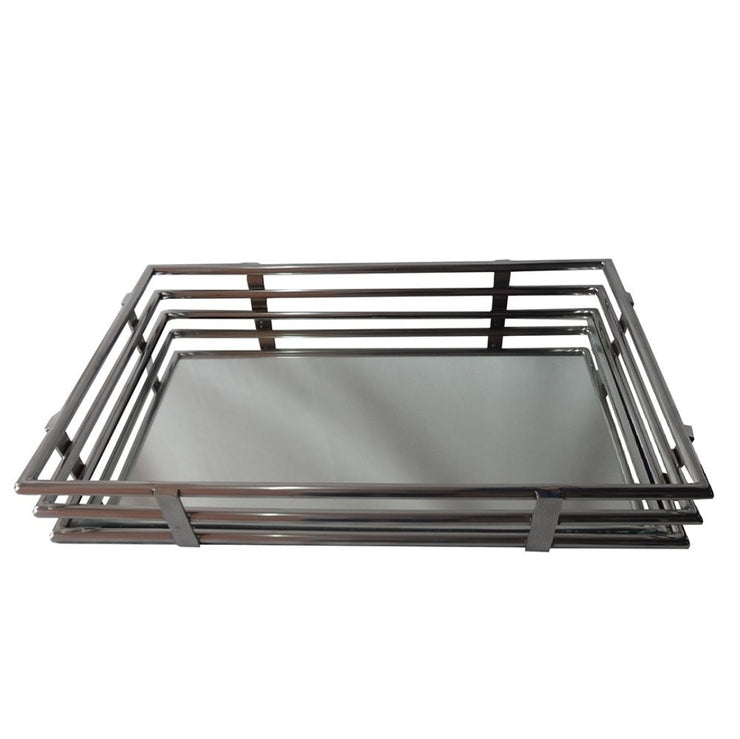 Large Gatsby Rectangular Mirror Tray