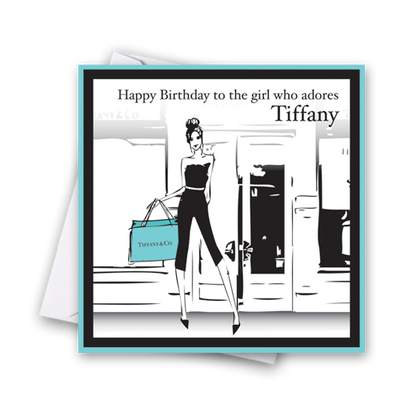 Tiffany Happy Birthday Card