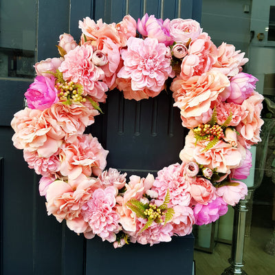 Pink Blossom Wreath
