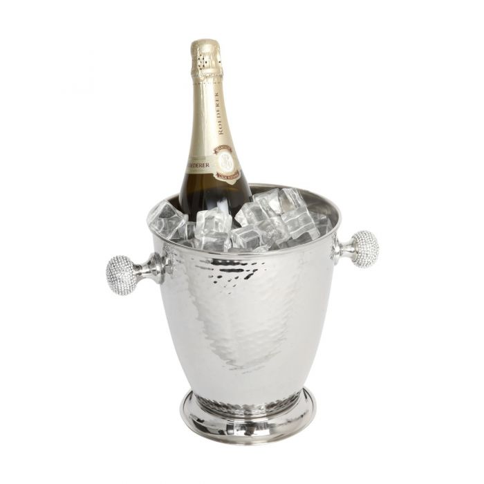 Wine Cooler with Crystal Sphere Handles