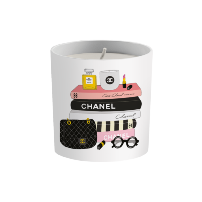 Fashion Book C hanel Inspired Candle