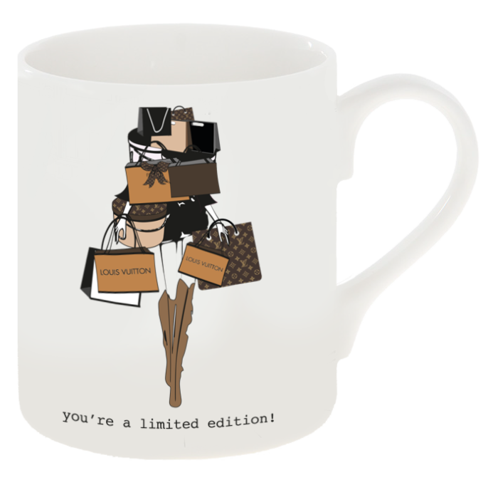 """You're a Limited Edition"" V L Inspired Shopping Mug"