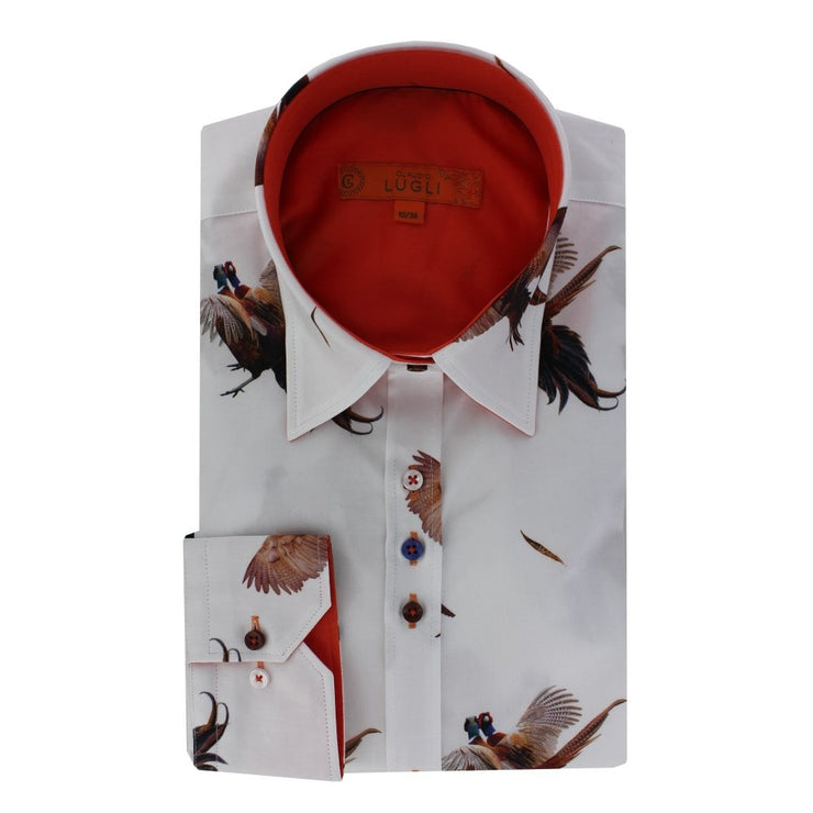 Claudio Lugli Flying Pheasant Print Shirt