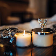 culinary concepts candle with stag lid snuffer - small