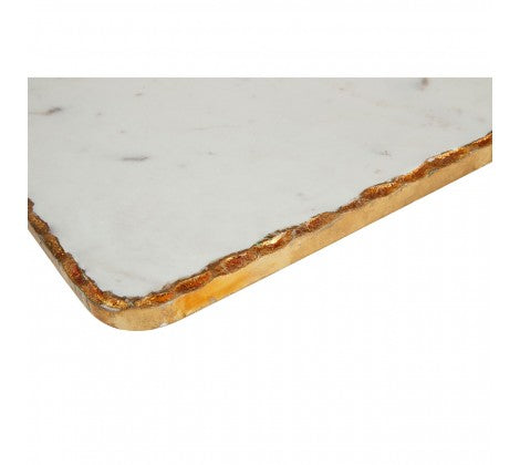 White Marble / Gold Foil Paddle Board
