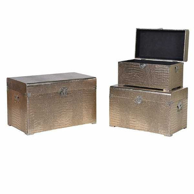Set of three bronze trunks
