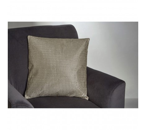 square gold metallic cushion