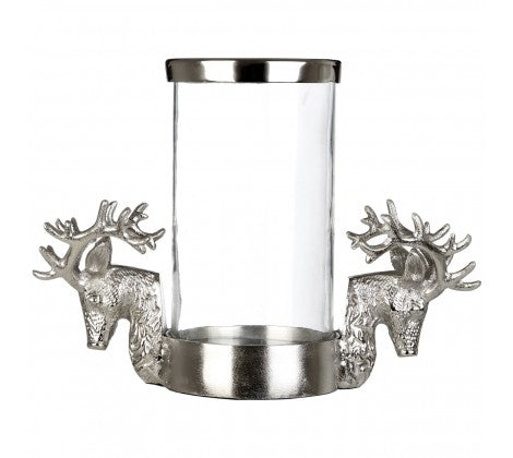 Stag hurricane candle holder