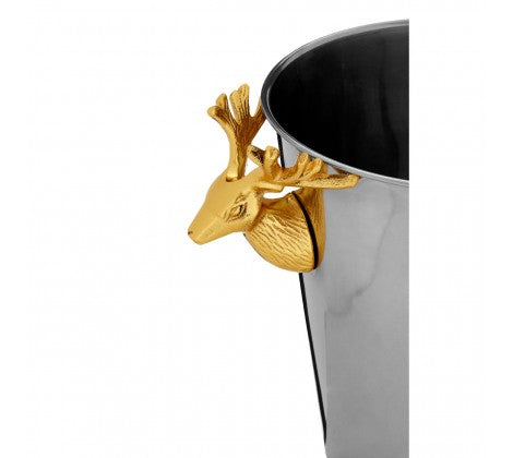 wine bucket with gold stag handles