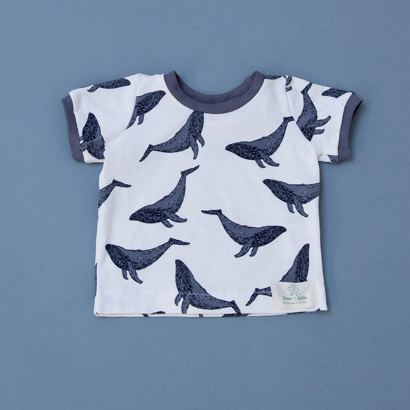 Whales Baby and Children's T-shirt