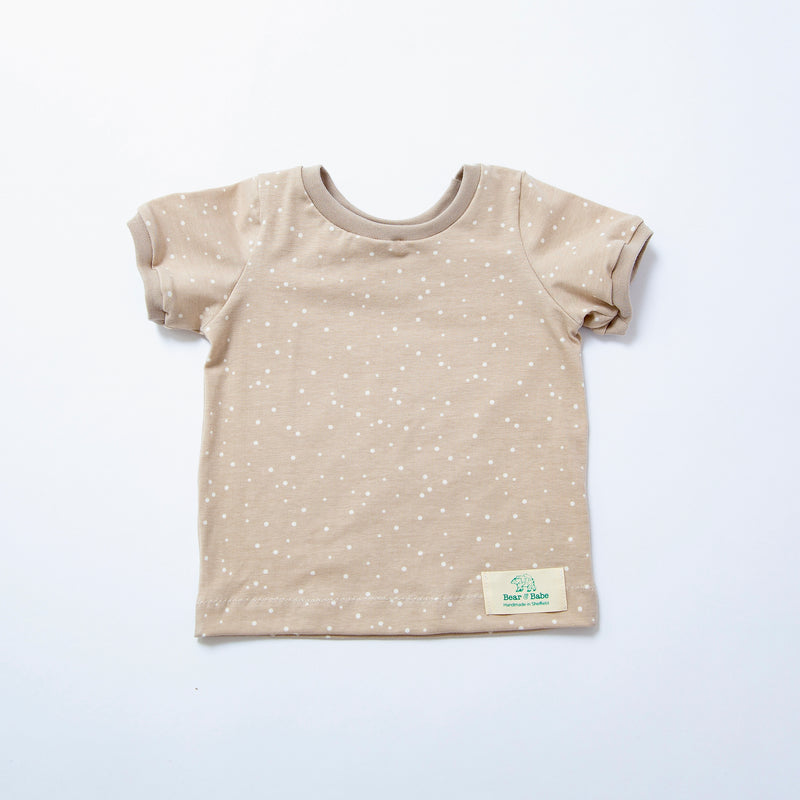 Cappuccino Dots Baby and Children's T-shirt