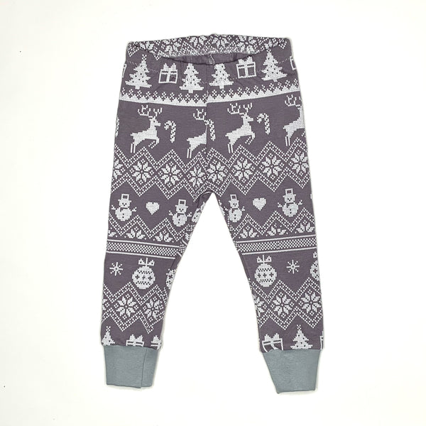 Reindeer Fair Isle Baby and Children's Leggings (Ready to Ship)