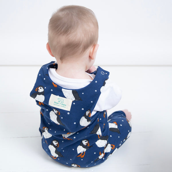 Navy Puffins Baby and Children's Romper