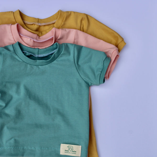 Aqua, Gold, Pink Set of 3 Baby and Children's T-shirts