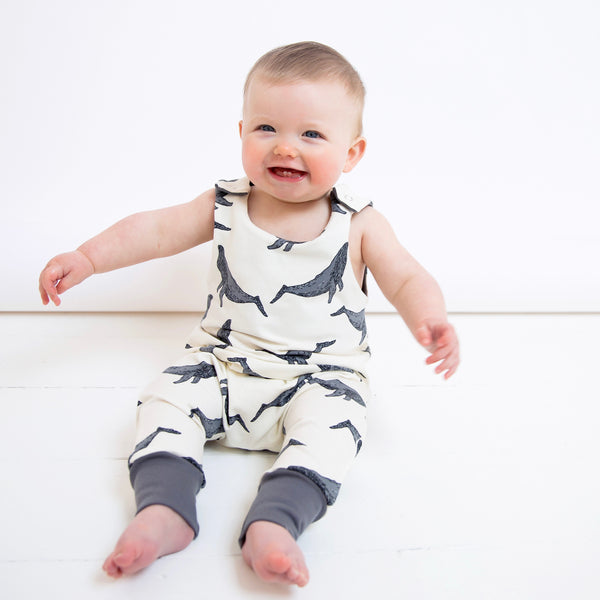 Whales Baby and Children's Romper
