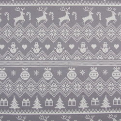 Reindeer Fair Isle Baby and Children's Bib (Ready to Ship)
