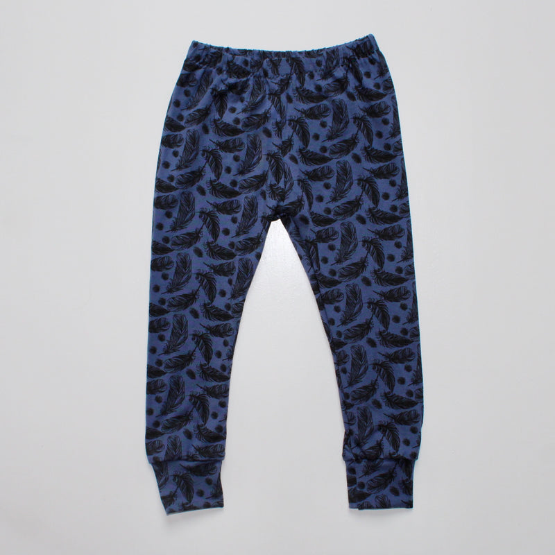 Navy Feathers Baby and Children's Leggings