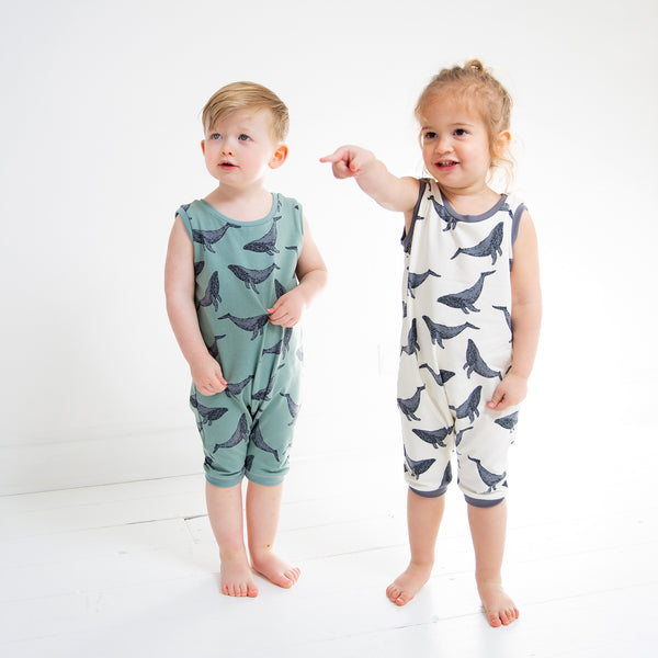 Whales Baby and Children's Short Romper