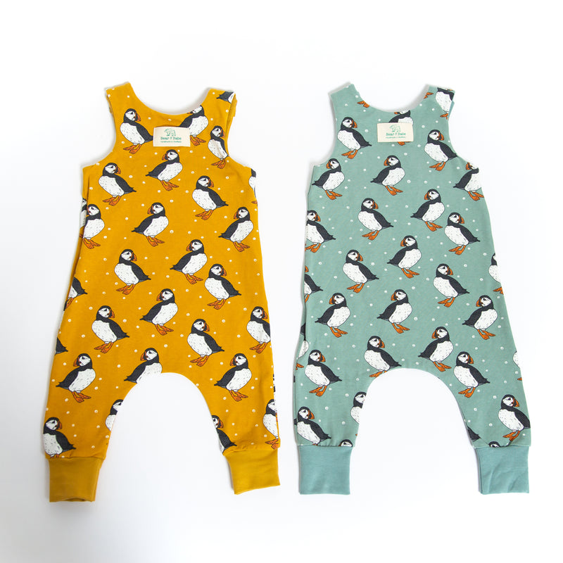 Puffins Baby and Children's Romper (Ready to Ship)