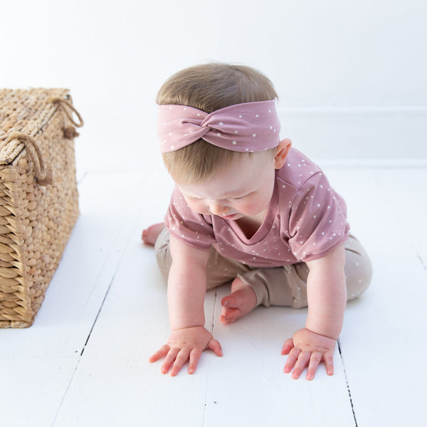 Rose Dots Baby and Children's Twist Headband