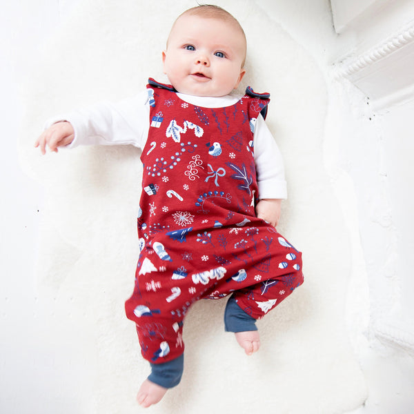 Christmas Wonderland Baby and Children's Romper (Ready to Ship)