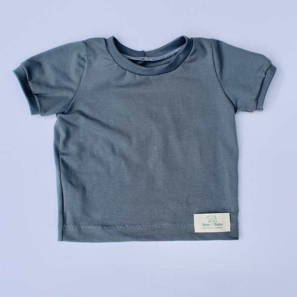 Steel Blue Baby and Children's T-shirt